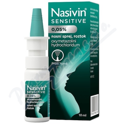 Nasivin Sensitive 0.5mg/ml nas.spr.sol. 10ml