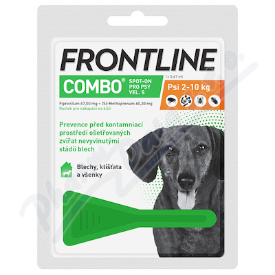 Frontline Combo Spot on Dog S 1x1 pipeta 0.67ml